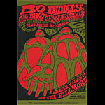 BG # 71 Bo Diddley Fillmore postcard - stamp back BG71