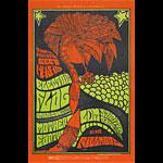 BG # 83 Electric Flag Fillmore postcard - stamp back BG83