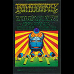BG # 141 Iron Butterfly Fillmore postcard - stamp back BG141