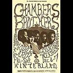 BG # 148A Chambers Brothers Fillmore postcard - blank back BG148A