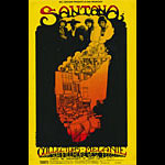 BG # 160 Santana Fillmore postcard - stamp back BG160