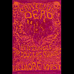 BG # 162 Grateful Dead Fillmore postcard - stamp back BG162