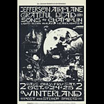 BG # 197 Jefferson Airplane Fillmore postcard - ad back BG197