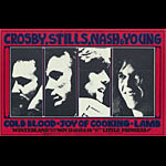 BG # 200 Crosby, Stills, Nash & Young Fillmore postcard BG200