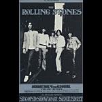 BG # 201 Rolling Stones Fillmore postcard BG201