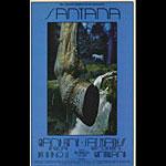 BG # 207 Santana Fillmore postcard - ad back BG207