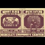 BG # 215A Moody Blues Fillmore postcard - blank back BG215A