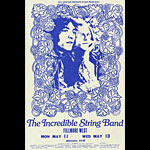 BG # 232A Incredible String Band Fillmore Monday - Wednesday Ticket BG232A