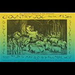 BG # 236 Country Joe and the Fish Fillmore postcard - ad back BG236