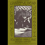 BG # 237 Grateful Dead Fillmore postcard - ad back BG237
