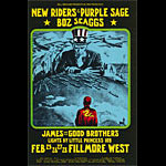BG # 271 New Riders of the Purple Sage Fillmore postcard - ad back BG271