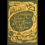 BG # 0-2 The Grass Roots Fillmore Poster BG0