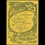BG # 0 The Grass Roots Fillmore Handbill BG0