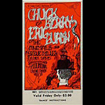 BG # 70 Chuck Berry Fillmore Friday ticket BG70