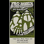BG # 71 Bo Diddley Fillmore Wednesday - Sunday ticket BG71