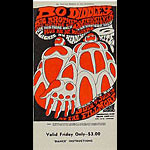 BG # 71 Bo Diddley Fillmore Friday ticket BG71