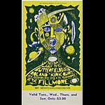 BG # 72 Butterfield Blues Band Fillmore Tuesday - Sunday ticket BG72