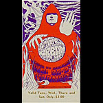 BG # 79 Paul Butterfield Blues Band Fillmore Tuesday - Sunday ticket BG79
