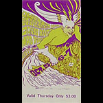 BG # 87 Quicksilver Messenger Service Fillmore Thursday ticket BG87