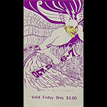BG # 87 Quicksilver Messenger Service Fillmore Friday ticket BG87