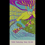 BG # 87 Quicksilver Messenger Service Fillmore Saturday ticket BG87
