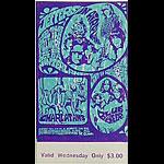BG # 88 Jefferson Airplane Fillmore Wednesday ticket BG88