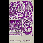 BG # 88 Jefferson Airplane Fillmore Saturday ticket BG88