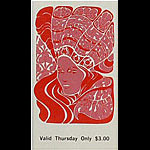 BG # 89 Eric Burdon & the Animals Fillmore Thursday ticket BG89