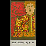 BG # 90 Pink Floyd Fillmore Thursday ticket BG90