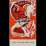 BG # 92 Procol Harum Fillmore Thursday ticket BG92
