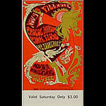 BG # 92 Procol Harum Fillmore Saturday ticket BG92