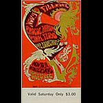 BG # 92 Procol Harum Fillmore Saturday ticket BG92