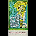 BG # 95 Nitty Gritty Dirt Band Fillmore Thursday ticket BG95