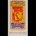 BG # 98 Buffalo Springfield Fillmore Thursday ticket BG98