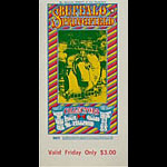 BG # 98 Buffalo Springfield Fillmore Friday ticket BG98