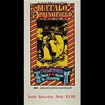 BG # 98 Buffalo Springfield Fillmore Saturday ticket BG98