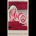 BG # 99 Doors Fillmore Wednesday ticket BG99