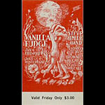 BG # 101 Vanilla Fudge Fillmore Friday ticket BG101