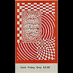 BG # 102 Chambers Brothers Fillmore Friday ticket BG102
