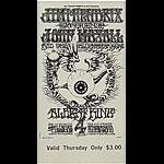 BG # 105 Jimi Hendrix Experience Fillmore Thursday ticket BG105