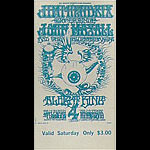 BG # 105 Jimi Hendrix Experience Fillmore Saturday ticket BG105