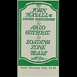 BG # 106 John Mayall & Blues Breakers Fillmore Thursday ticket BG106