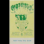 BG # 110 Cream Fillmore Friday ticket BG110