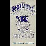 BG # 110 Cream Fillmore Saturday ticket BG110