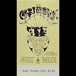 BG # 110 Cream Fillmore Sunday ticket BG110