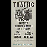 BG # 111 Traffic Fillmore Friday ticket BG111