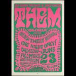 BG # 12-1 Them Fillmore Poster BG12