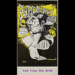 BG # 121 Yardbirds Fillmore Friday ticket BG121