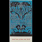 BG # 125 Chambers Brothers Fillmore Tuesday - Wednesday ticket BG125