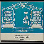 BG # 133 The Who Fillmore Thursday ticket BG133